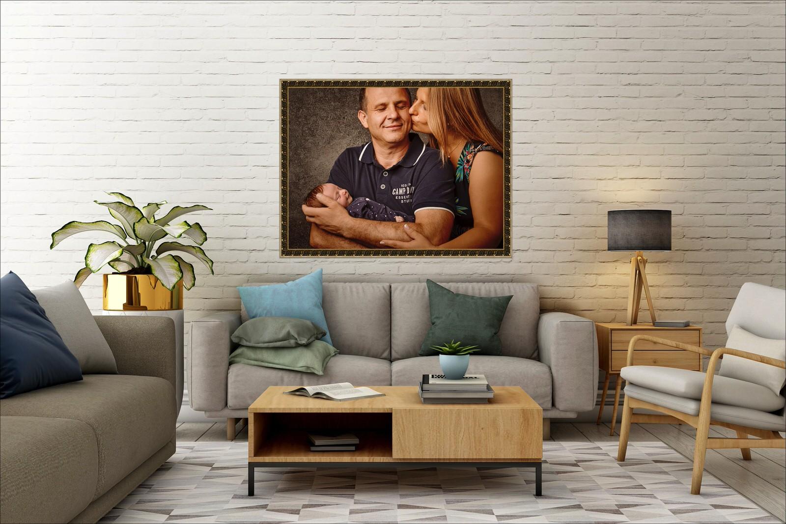 Familienfoto Wohnzimmer